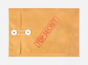 Stamp,Top,Secret,On,The,Brown,Envelop,File,,isolated,On